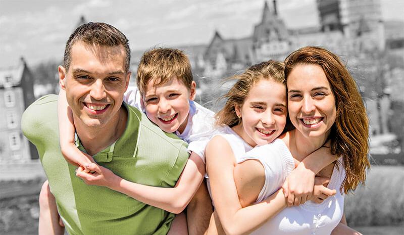 happy family in Canada