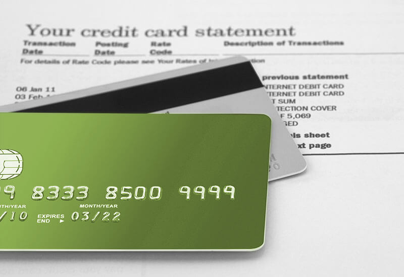 credit cards and statement